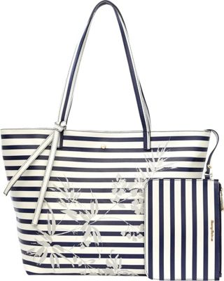 Tommy Bahama Handbags Cocoa Beach Market Tote Deep Sea - Tommy Bahama Handbags Leather Handbags
