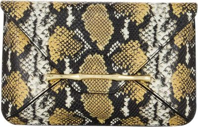 Elaine Turner Bellaire Clutch Golden Ocre Python - Elaine Turner Designer Handbags