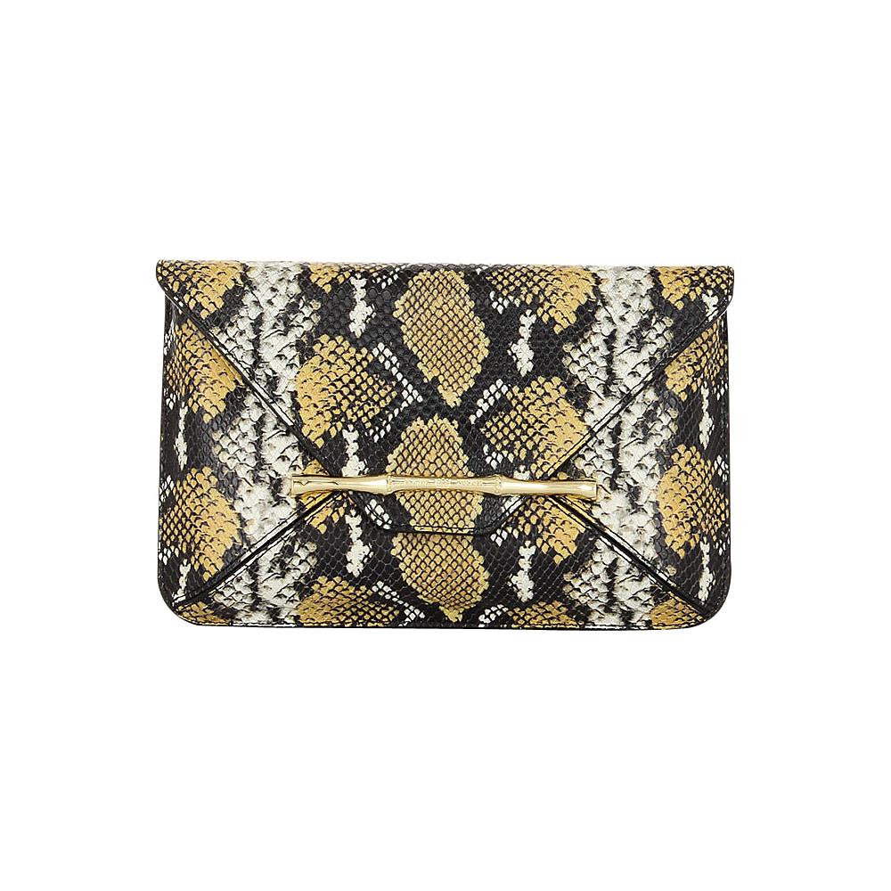 Elaine Turner Bellaire Clutch Golden Ocre Python Elaine Turner Designer Handbags