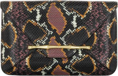 Elaine Turner Bellaire Clutch Retro Python - Elaine Turner Designer Handbags
