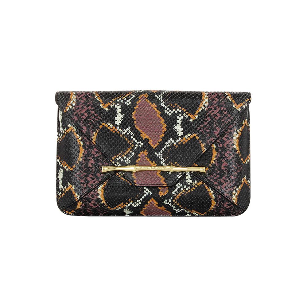 Elaine Turner Bellaire Clutch Retro Python Elaine Turner Designer Handbags