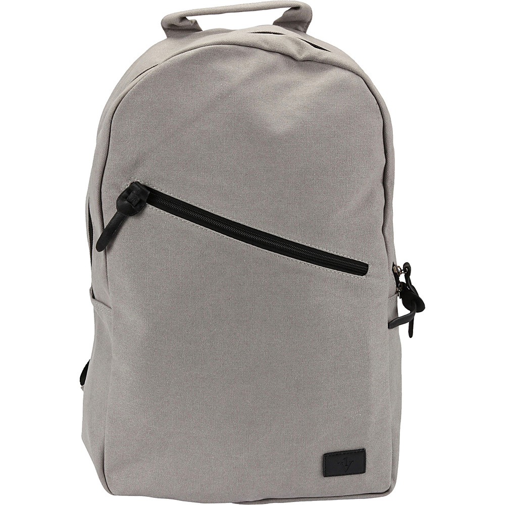 1Voice The Sidewinder Charging Backpack with 10 000mAh Battery Built in Grey 1Voice Business Laptop Backpacks