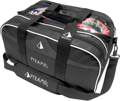 Pyramid Path Double Tote Plus Clear Top Bowling Bag Black - Pyramid Bowling Bags