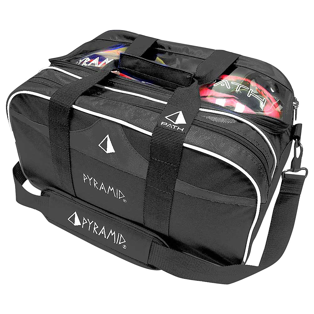 Pyramid Path Double Tote Plus Clear Top Bowling Bag Black Pyramid Bowling Bags