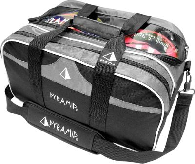 Pyramid Path Double Tote Plus Clear Top Bowling Bag Silver - Pyramid Bowling Bags