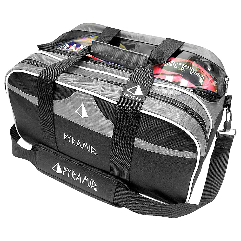 Pyramid Path Double Tote Plus Clear Top Bowling Bag Silver Pyramid Bowling Bags