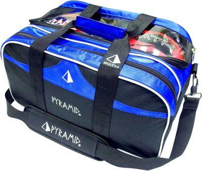 Pyramid Path Double Tote Plus Clear Top Bowling Bag Royal Blue - Pyramid Bowling Bags