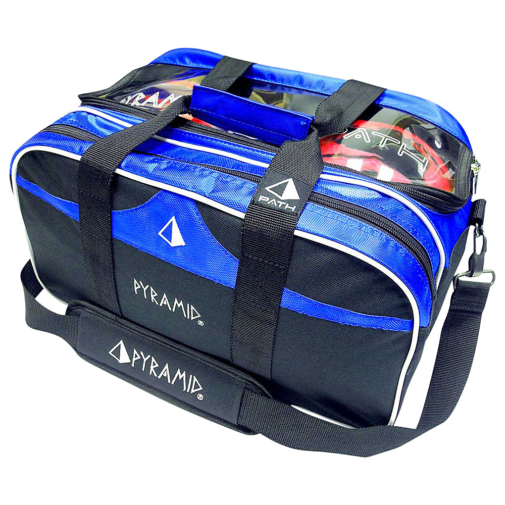 Pyramid Path Double Tote Plus Clear Top Bowling Bag Royal Blue Pyramid Bowling Bags