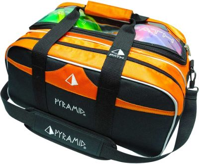 Pyramid Path Double Tote Plus Clear Top Bowling Bag Orange - Pyramid Bowling Bags