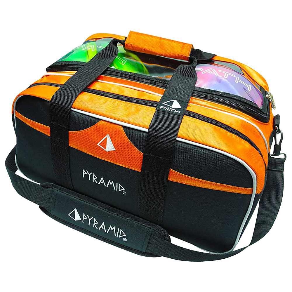 Pyramid Path Double Tote Plus Clear Top Bowling Bag Orange Pyramid Bowling Bags