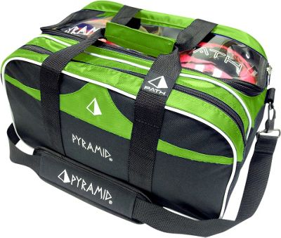 Pyramid Path Double Tote Plus Clear Top Bowling Bag Lime Green - Pyramid Bowling Bags