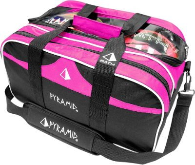 Pyramid Path Double Tote Plus Clear Top Bowling Bag Hot Pink - Pyramid Bowling Bags