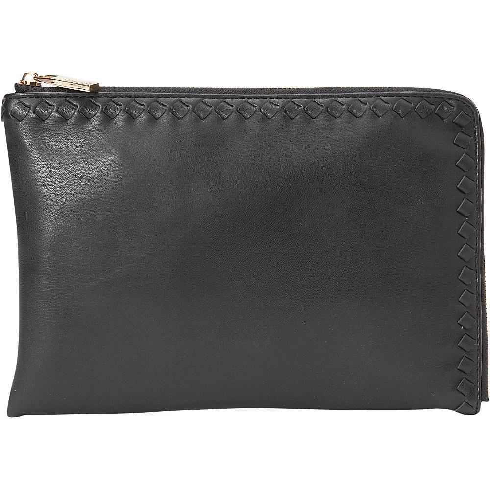 deux lux Ingrid L Zip Pouch Black deux lux Manmade Handbags