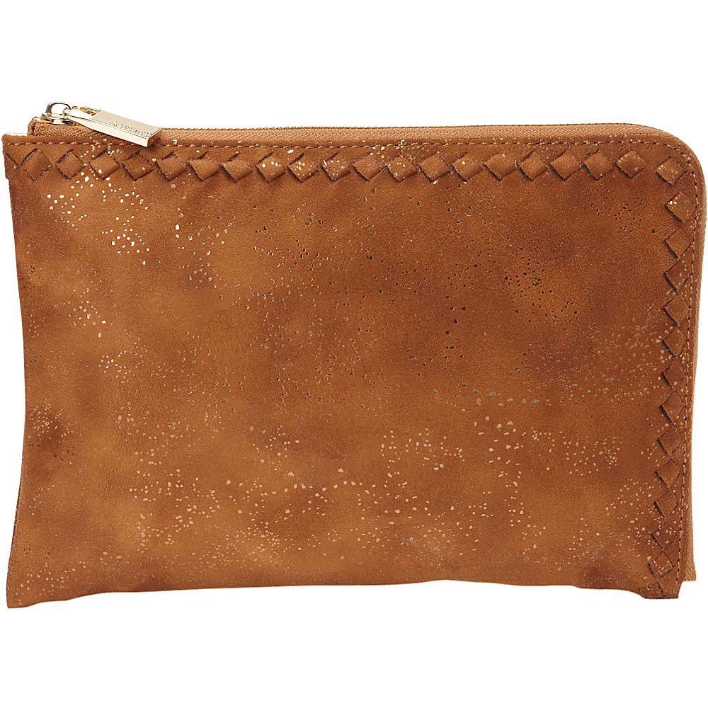 deux lux Ingrid L Zip Pouch Cognac deux lux Manmade Handbags
