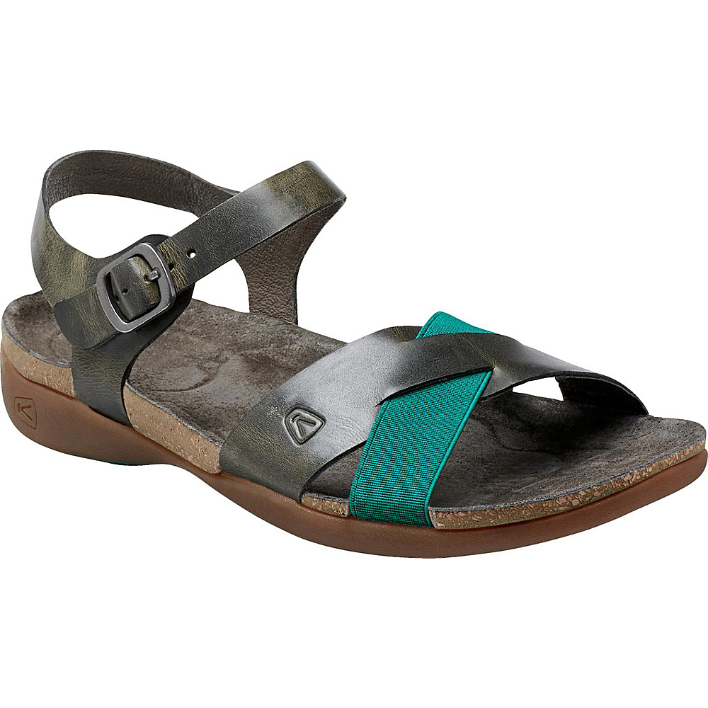 KEEN Womens Dauntless Ankle Sandal 6 - Burnt Olive - KEEN Womens Footwear - Apparel & Footwear, Women's Footwear