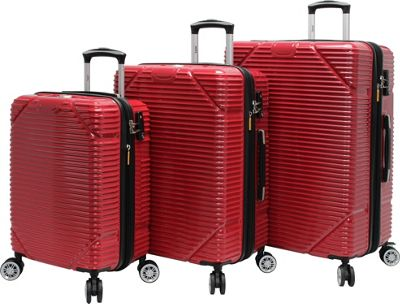 LUCAS Troy 3pc Exp Hardside Spinner Collection Red - LUCAS Luggage Sets