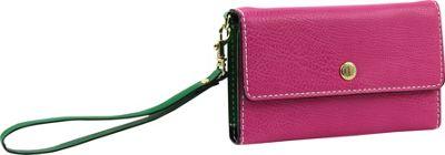 London Fog Handbags Alice Wristlet Pink/Green - London Fog Handbags Women's Wallets