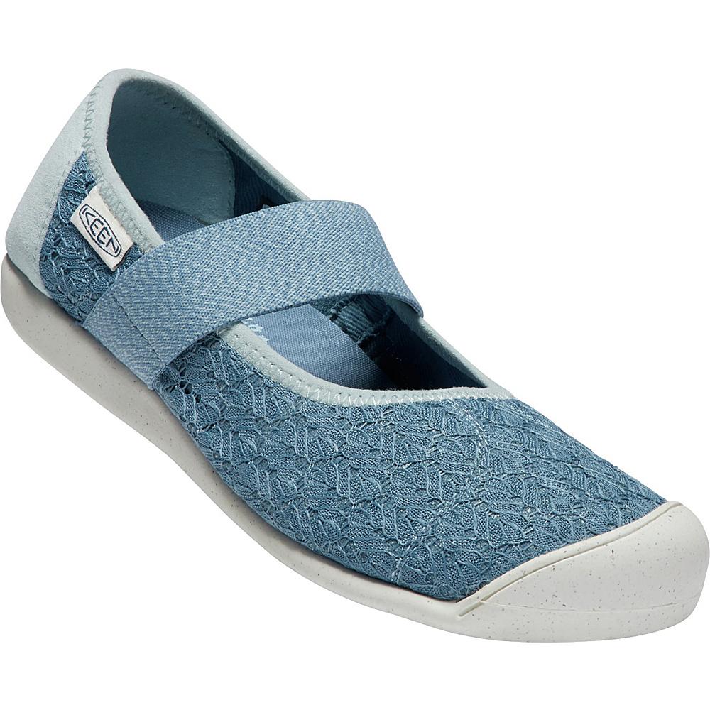 KEEN Women Sienna Mary-Jane Canvas Shoe 9 - Provincial Blue/Sterling Blue - KEEN Womens Footwear - Apparel & Footwear, Women's Footwear