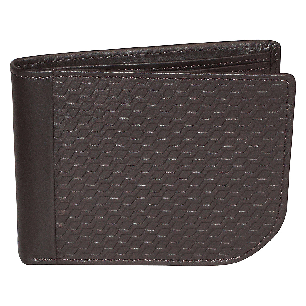 Buxton Bellamy RFID J-Fold Wallet Brown - Buxton Mens Wallets - Work Bags & Briefcases, Men's Wallets