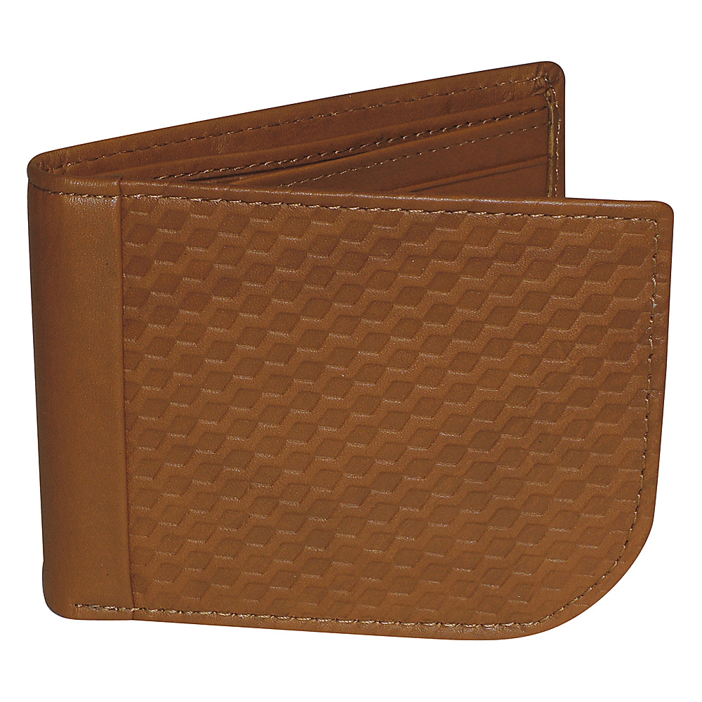 Buxton Bellamy RFID J-Fold Wallet Tan - Buxton Mens Wallets - Work Bags & Briefcases, Men's Wallets