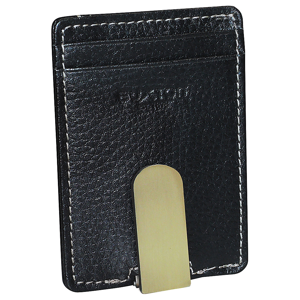 Buxton Monroe RFID Front Pocket Money Clip Black - Buxton Mens Wallets - Work Bags & Briefcases, Men's Wallets