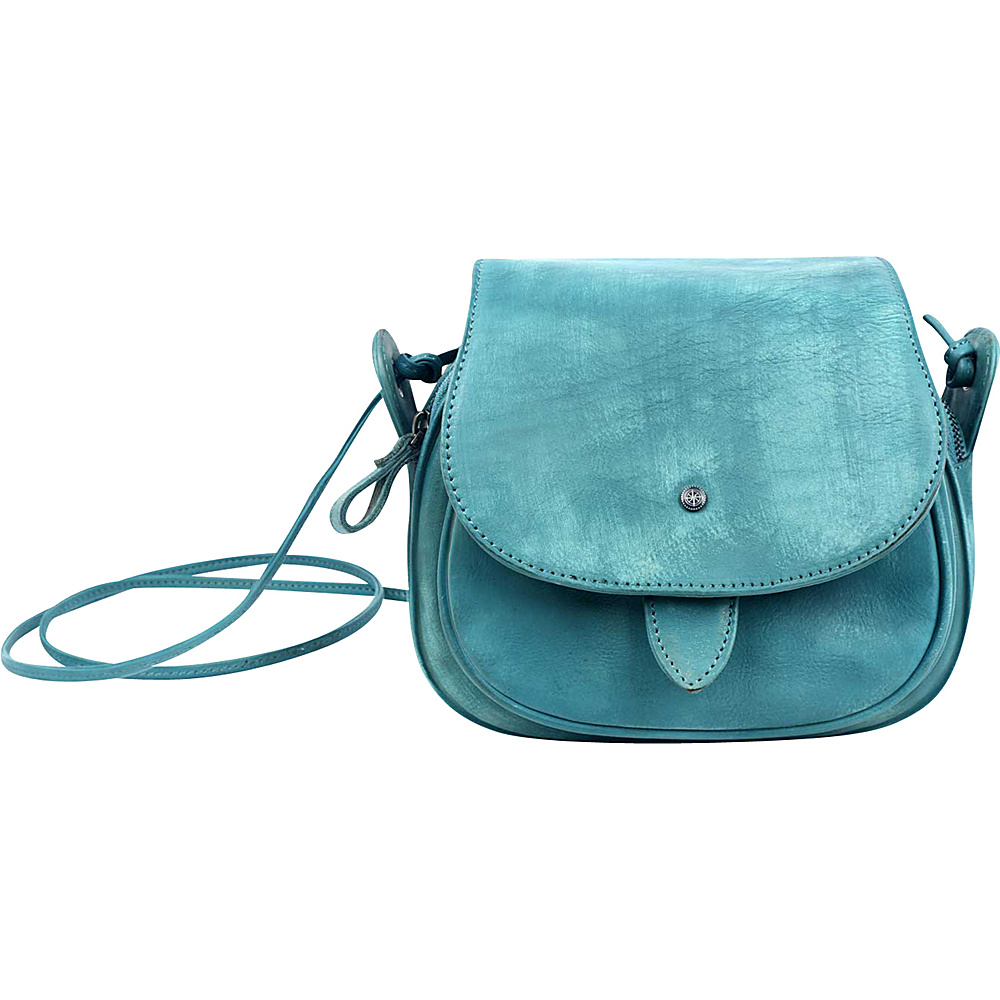 Old Trend Sun Flower Crossbody Aqua Old Trend Leather Handbags