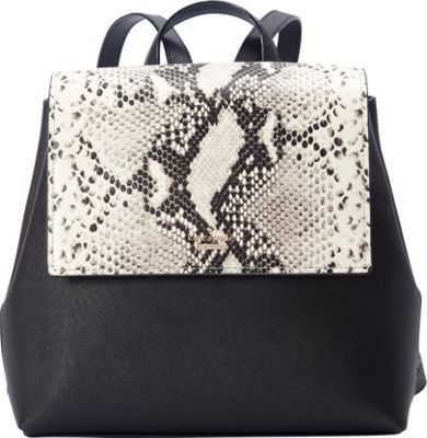 kate spade new york Cameron Street Snake Small Neema Backpack Black - kate spade new york Designer Handbags