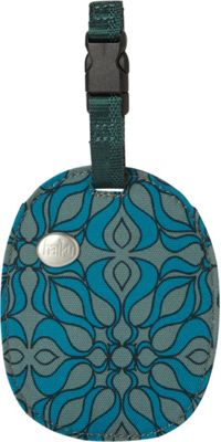 Haiku Stone ID Tag Sea Blue Geo Print - Haiku Luggage Accessories