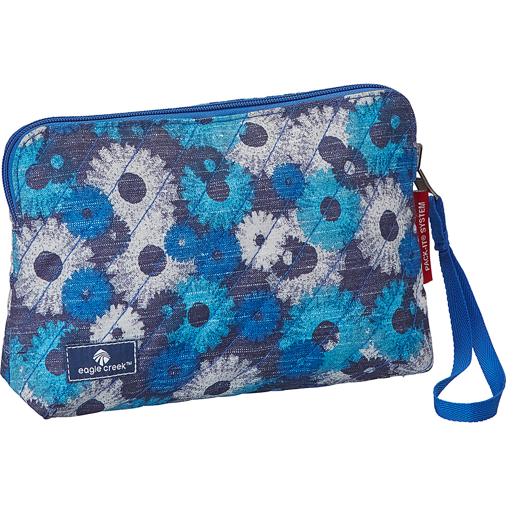Eagle Creek Pack-It OriginalQuilted Reversible Wristlet Daisy Chain Blue - Eagle Creek Travel Organizers - Travel Accessories, Travel Organizers