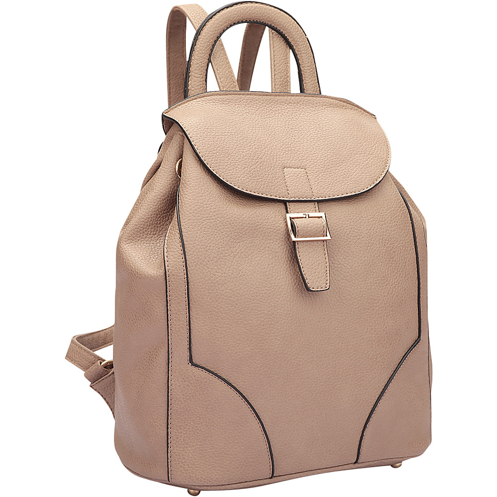 Dasein Classic Backpack Stone - Dasein Manmade Handbags - Handbags, Manmade Handbags