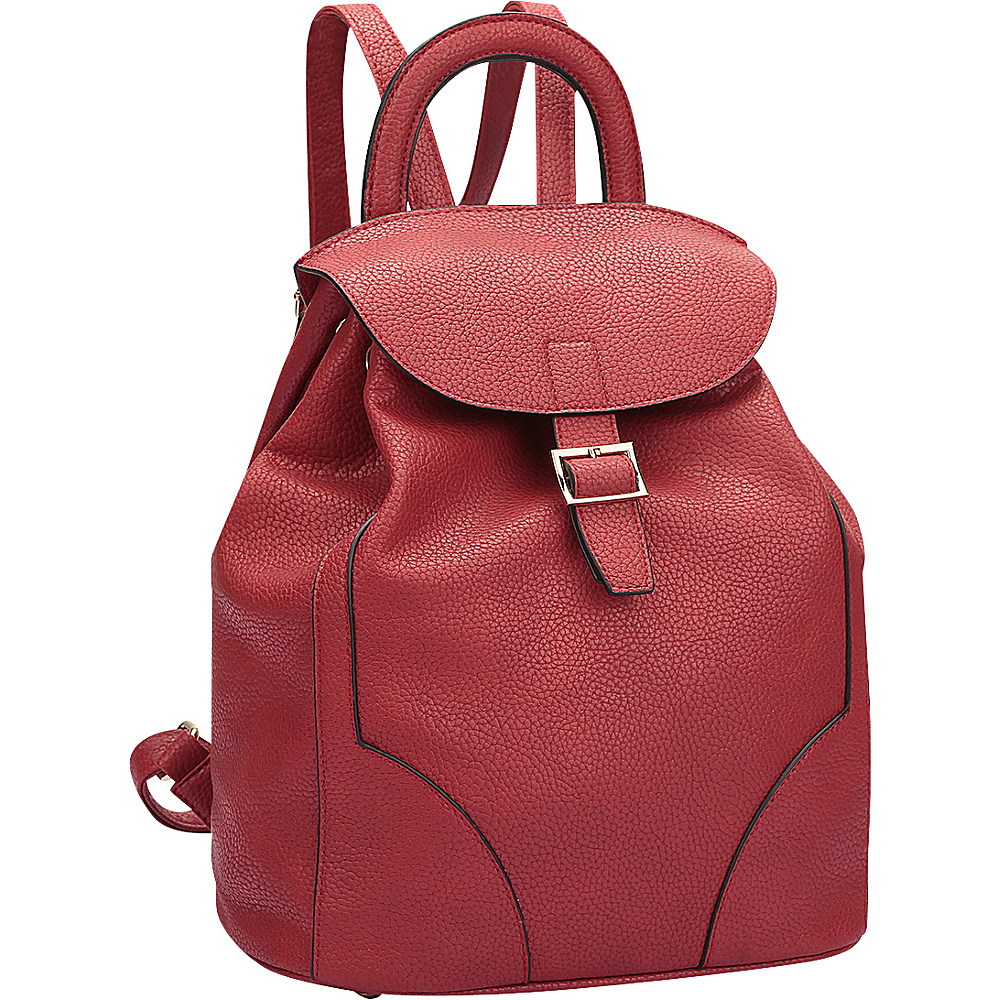 Dasein Classic Backpack Red - Dasein Manmade Handbags - Handbags, Manmade Handbags