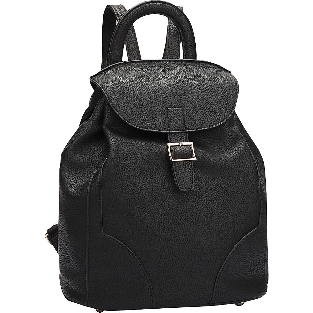 Dasein Classic Backpack Black - Dasein Manmade Handbags - Handbags, Manmade Handbags
