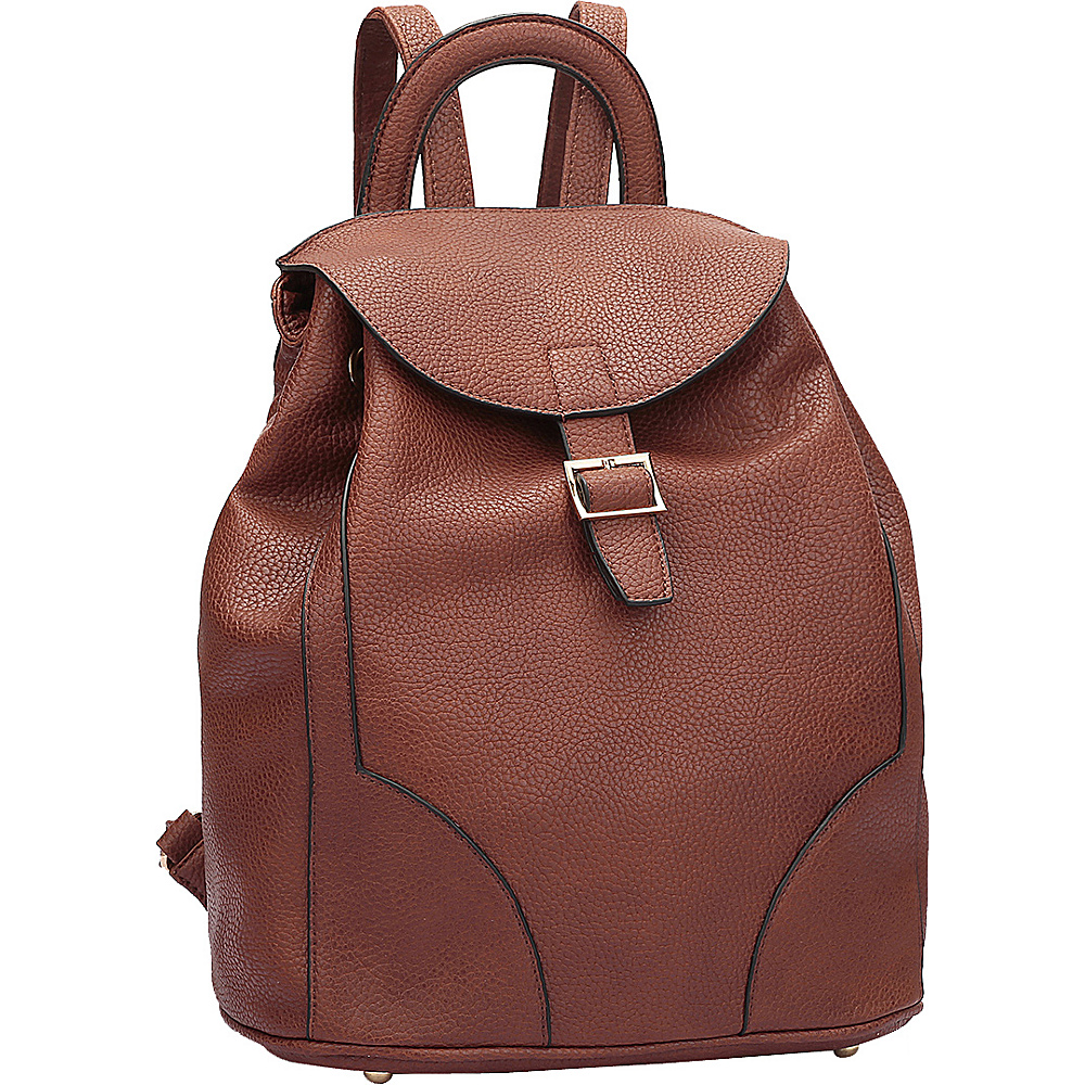 Dasein Classic Backpack Brown - Dasein Manmade Handbags - Handbags, Manmade Handbags
