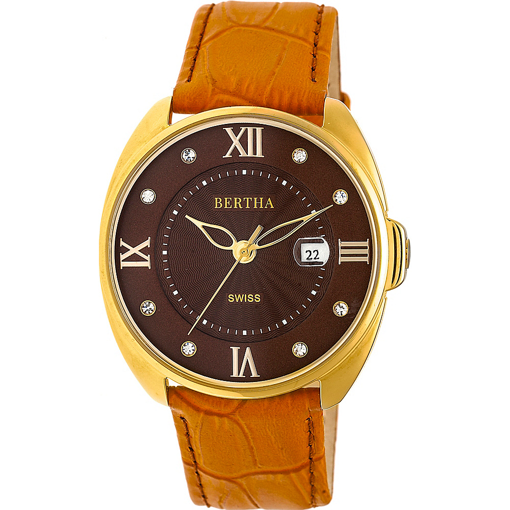 Bertha Watches Amelia Leather Ladies Watch Camel Bertha Watches Watches