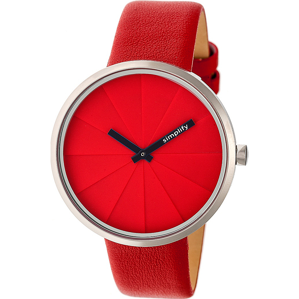 Simplify The 4000 Unisex Watch Red Simplify Watches