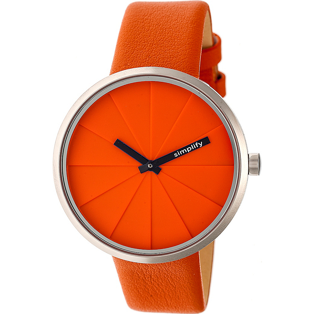 Simplify The 4000 Unisex Watch Orange Simplify Watches