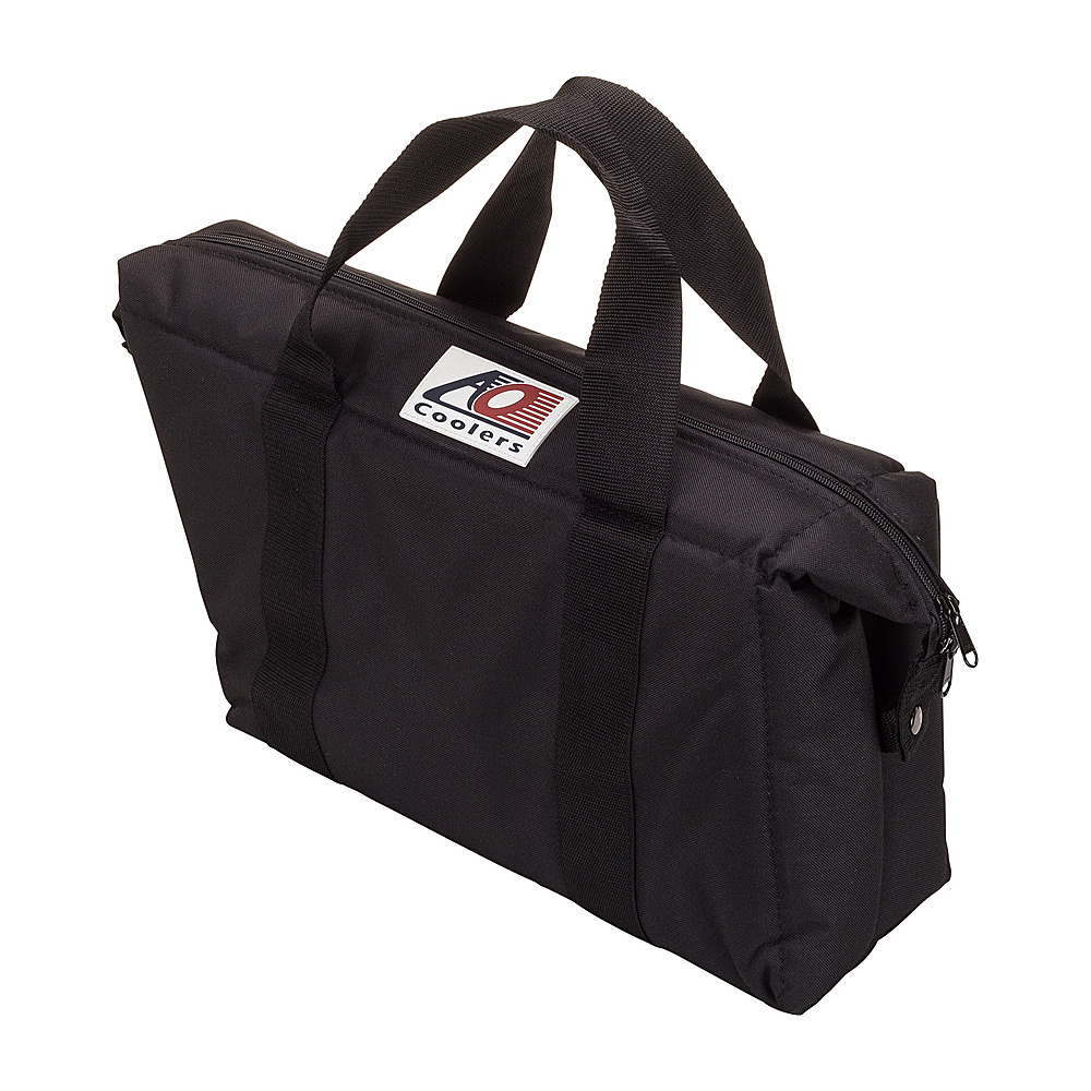 AO Coolers 15 Pack Canvas Saddlebag Soft Cooler Black AO Coolers Outdoor Coolers