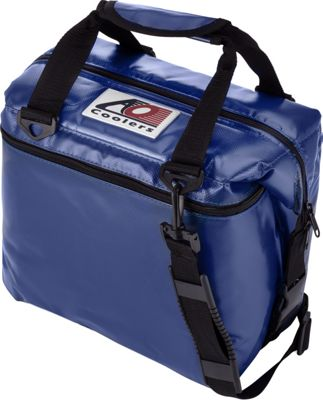 AO Coolers 12 Pack Vinyl Soft Cooler Royal Blue - AO Coolers Outdoor Coolers