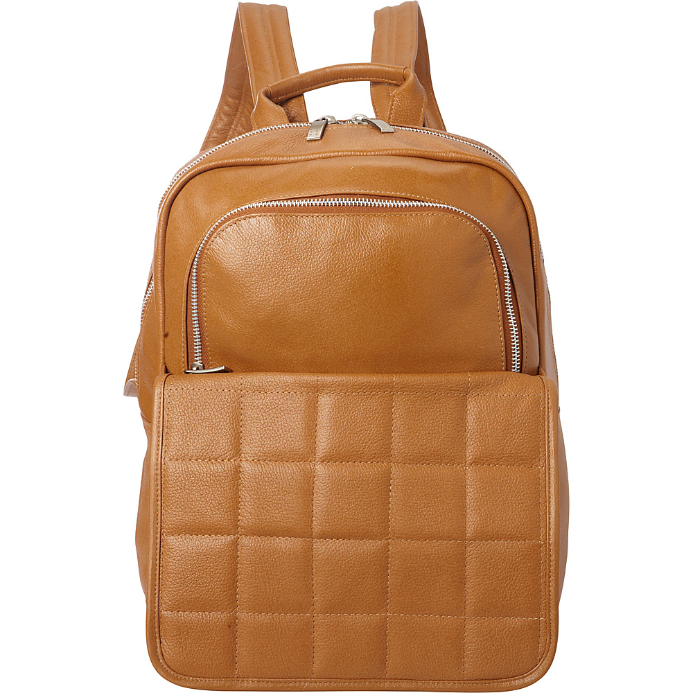 Piel Quilted Leather Backpack Saddle - Piel Leather Handbags - Handbags, Leather Handbags