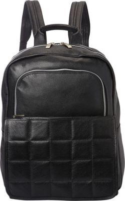 Piel Quilted Leather Backpack Black - Piel Leather Handbags
