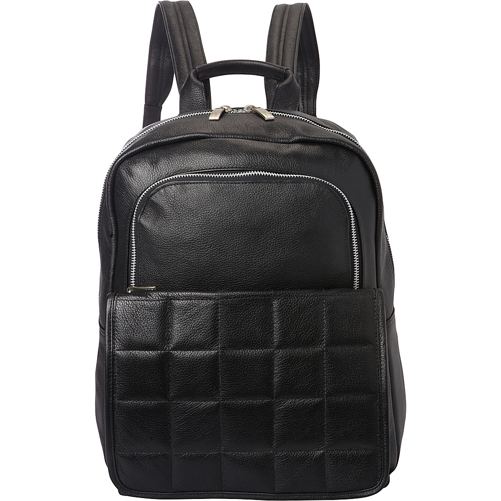 Piel Quilted Leather Backpack Black - Piel Leather Handbags - Handbags, Leather Handbags