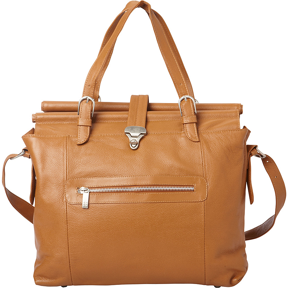 Piel Double Dowel Rod Leather Bag Saddle - Piel Womens Business Bags - Work Bags & Briefcases, Women's Business Bags