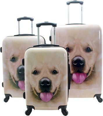 Chariot Labrador 3 Pc Hardside Spinner Set Labrador - Chariot Luggage Sets
