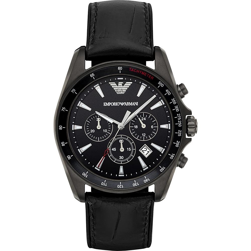 Emporio Armani Sport Watch Black/Gunmetal/Silver - Emporio Armani Watches