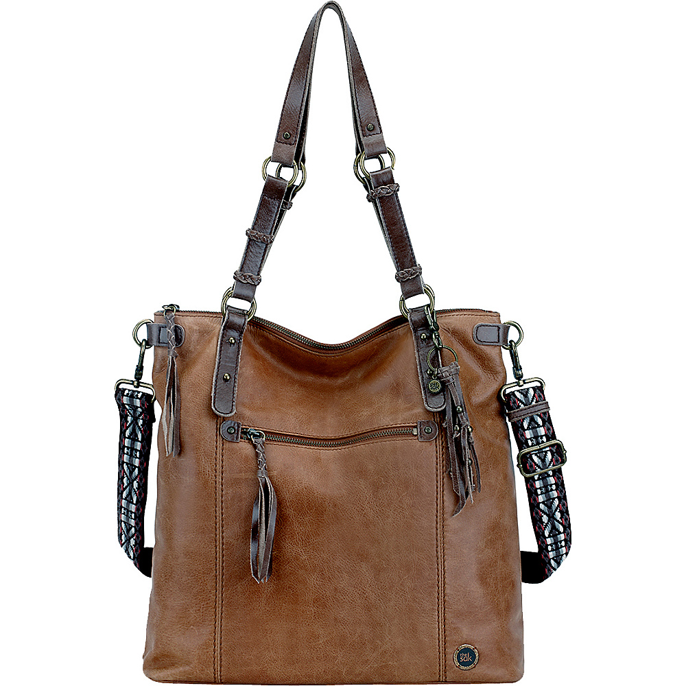the sak ashland tote 5 colors leather handbag new ebay. Black Bedroom Furniture Sets. Home Design Ideas