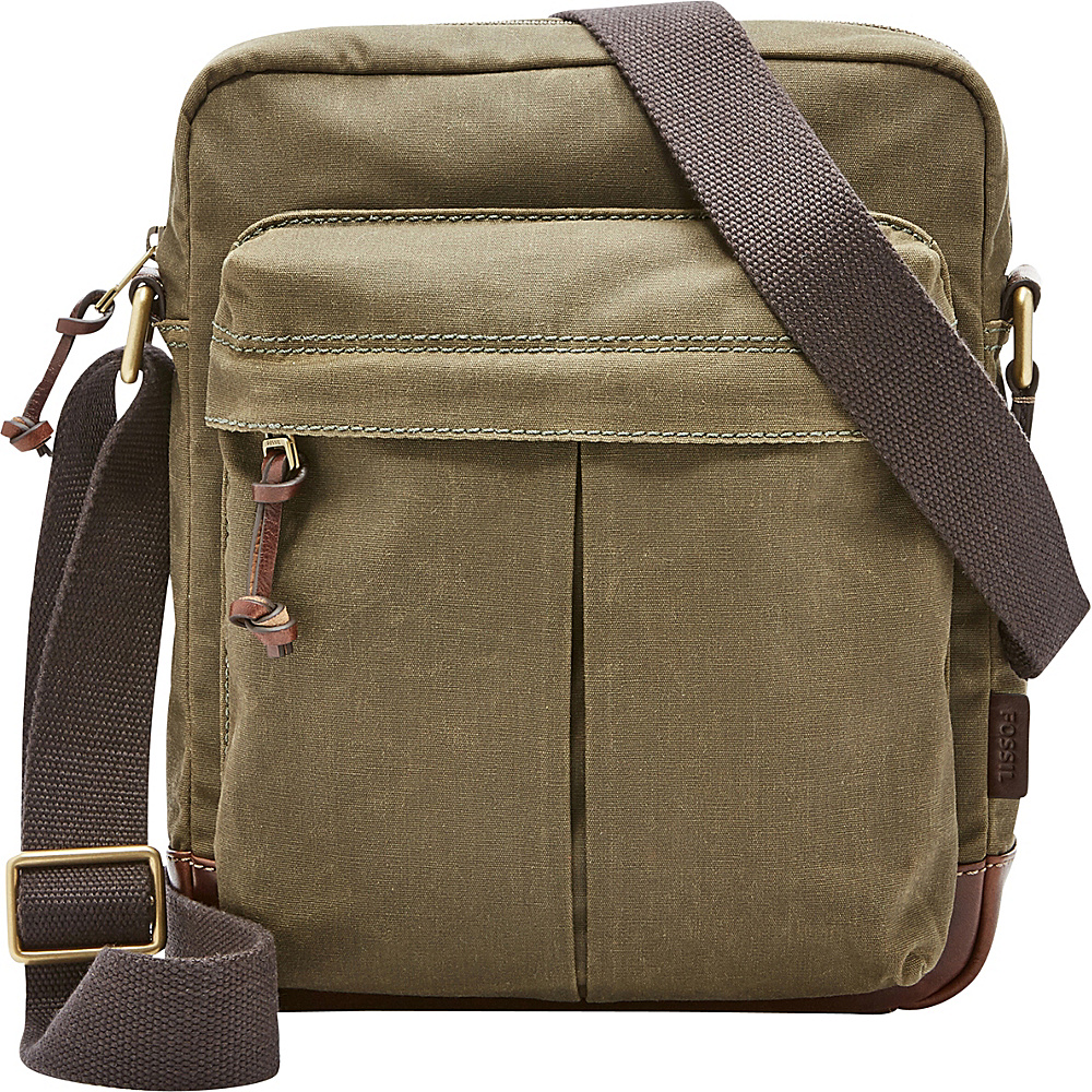 Fossil Defender NS City Bag Green - Fossil Messenger Bags - Work Bags & Briefcases, Messenger Bags