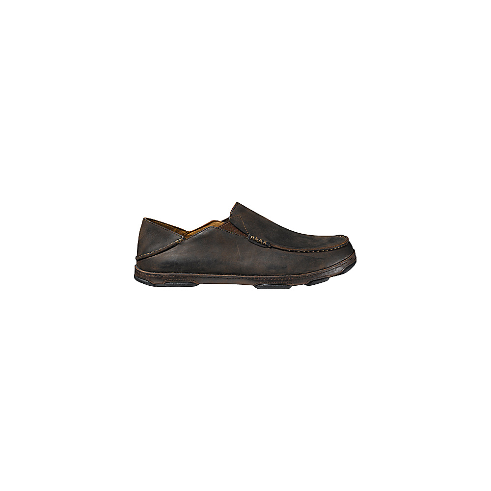 OluKai Mens Moloa Slip-On 9 - Dark Wood/Dark Java - OluKai Mens Footwear - Apparel & Footwear, Men's Footwear
