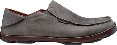 OluKai Mens Moloa Slip-On 13 - Storm Grey/Dark Wood - OluKai Men's Footwear