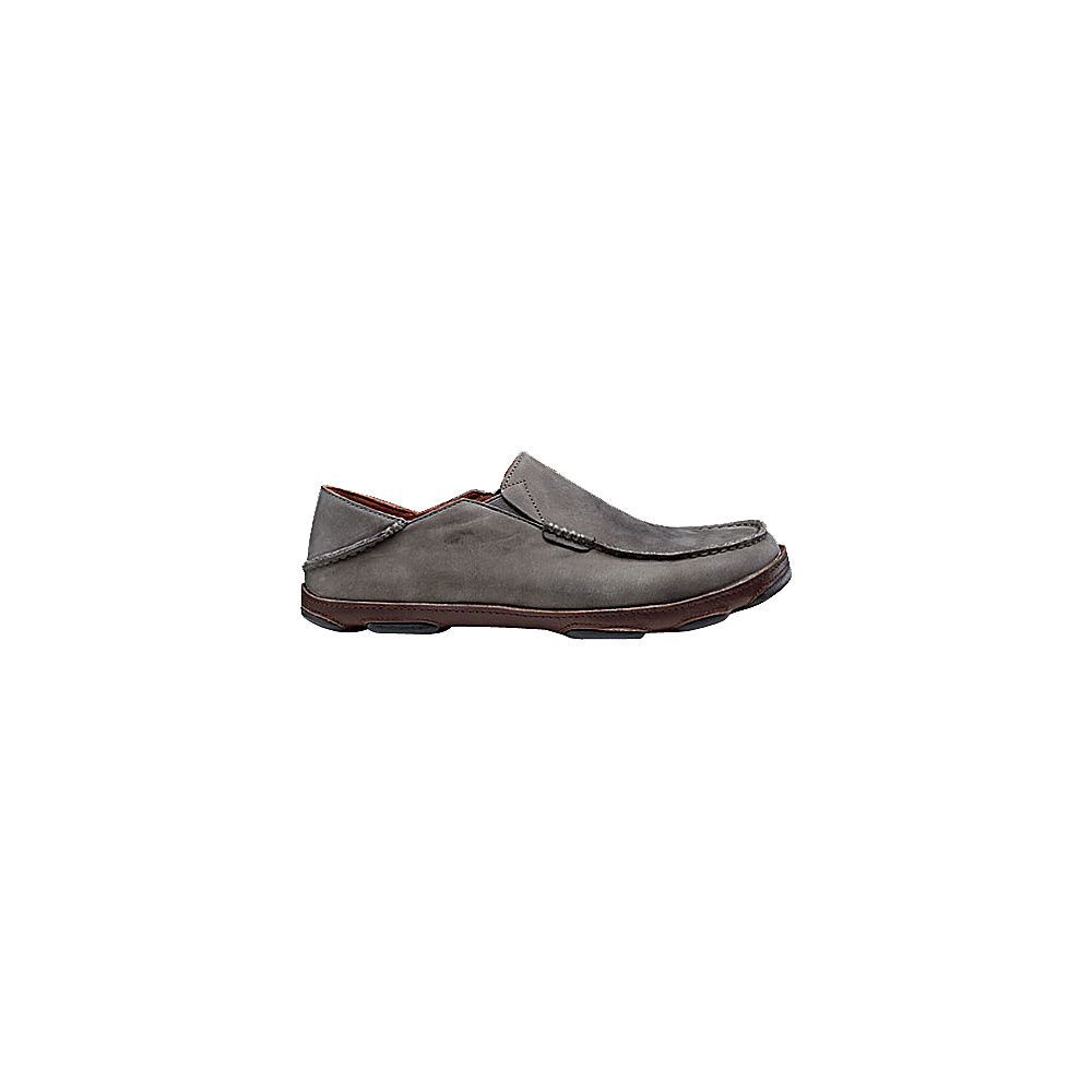 OluKai Mens Moloa Slip-On 9.5 - Storm Grey/Dark Wood - OluKai Mens Footwear - Apparel & Footwear, Men's Footwear
