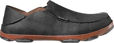 OluKai Mens Moloa Slip-On 16 - Black/Toffee - OluKai Men's Footwear